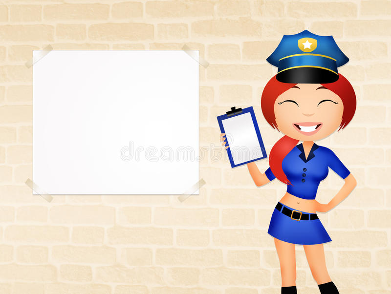Fille de police illustration stock