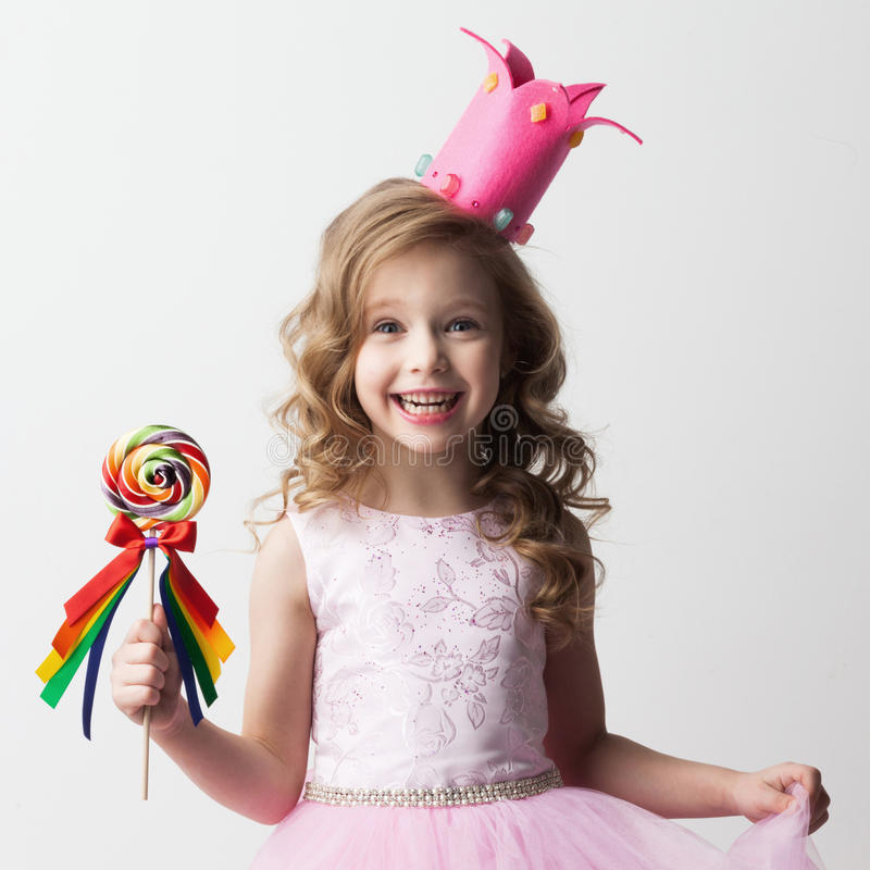 Fille de princesse de sucrerie photographie stock