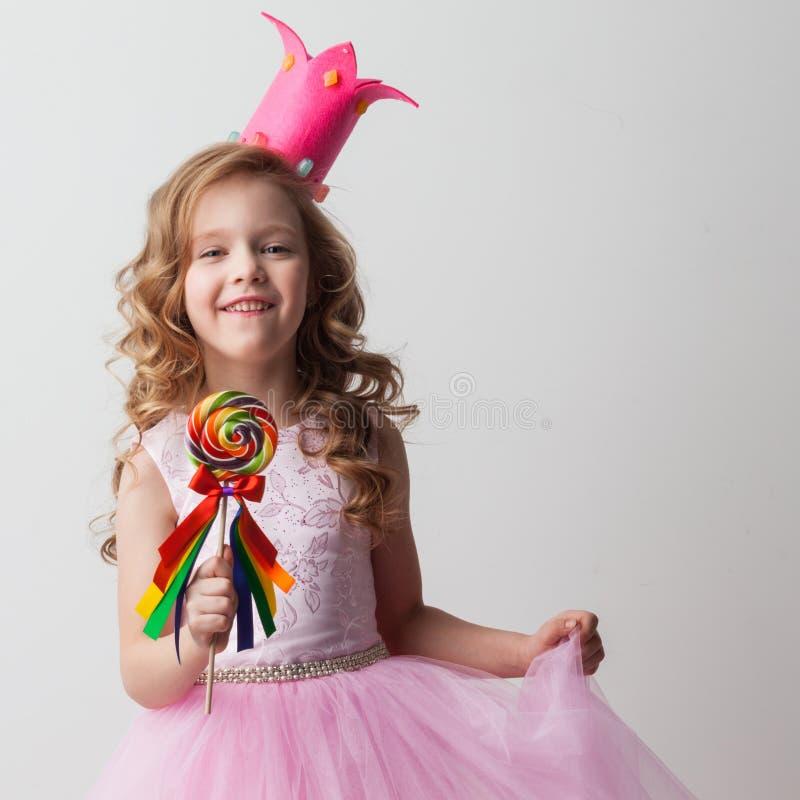 Fille de princesse de sucrerie images stock