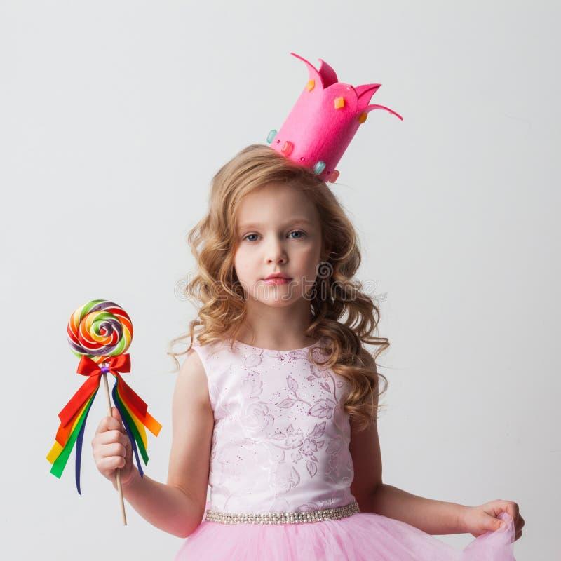 Fille de princesse de sucrerie photo stock