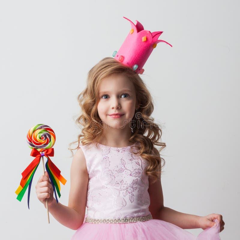 Fille de princesse de sucrerie avec la lucette images libres de droits