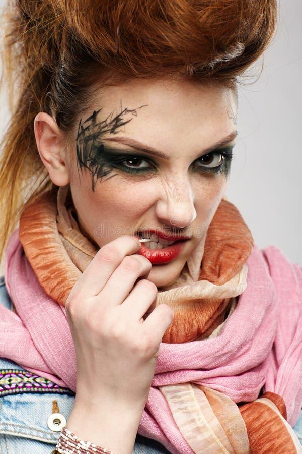Fille de punk de Glam photographie stock