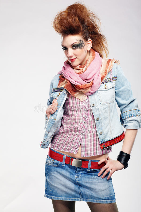 Fille de punk de Glam photographie stock libre de droits