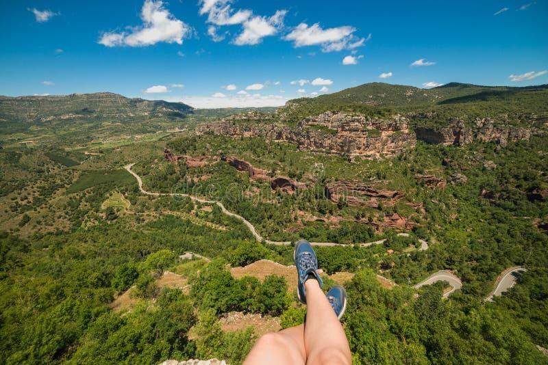 Fille de randonneur en Espagne photos stock