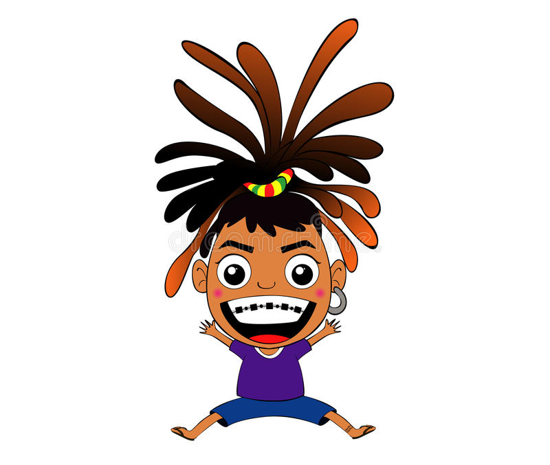 Fille de reggae photo stock