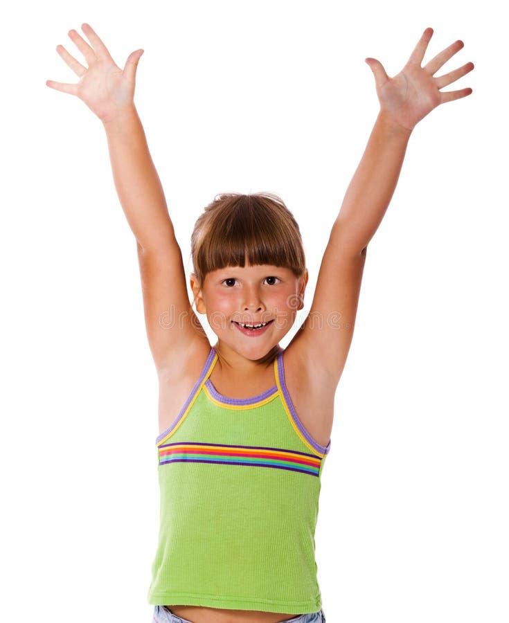 Fille de sourire heureuse photos libres de droits