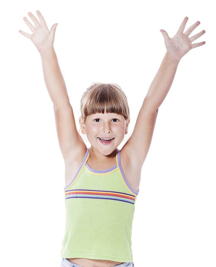Fille de sourire heureuse images libres de droits