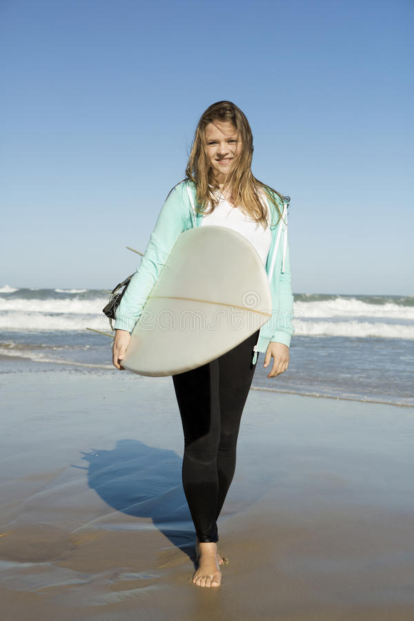 Fille de surfer photos stock