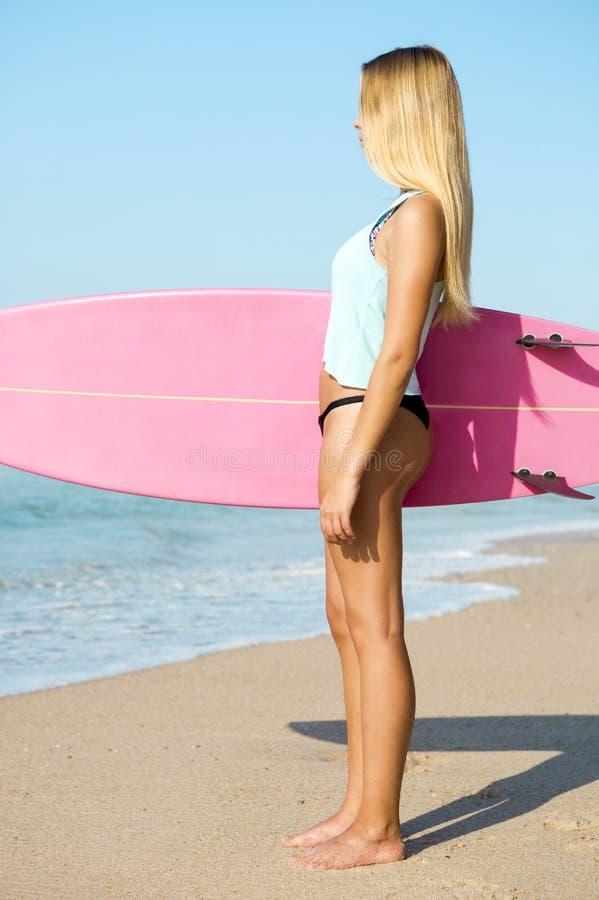 Fille de surfer de Blode photos libres de droits