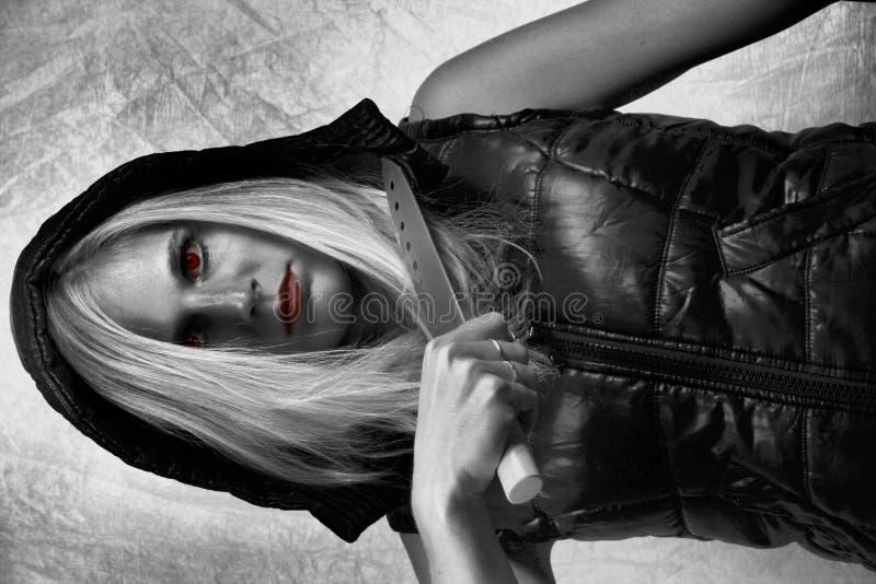 Fille de vampire image libre de droits