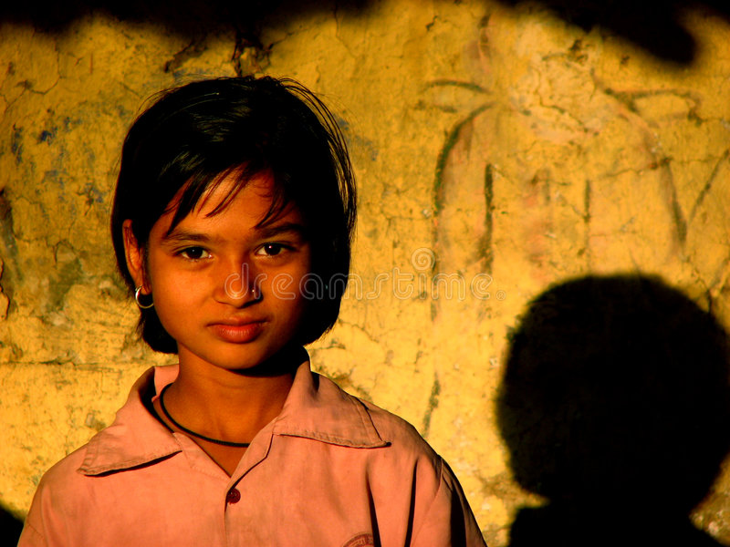 Fille de villageois photos libres de droits