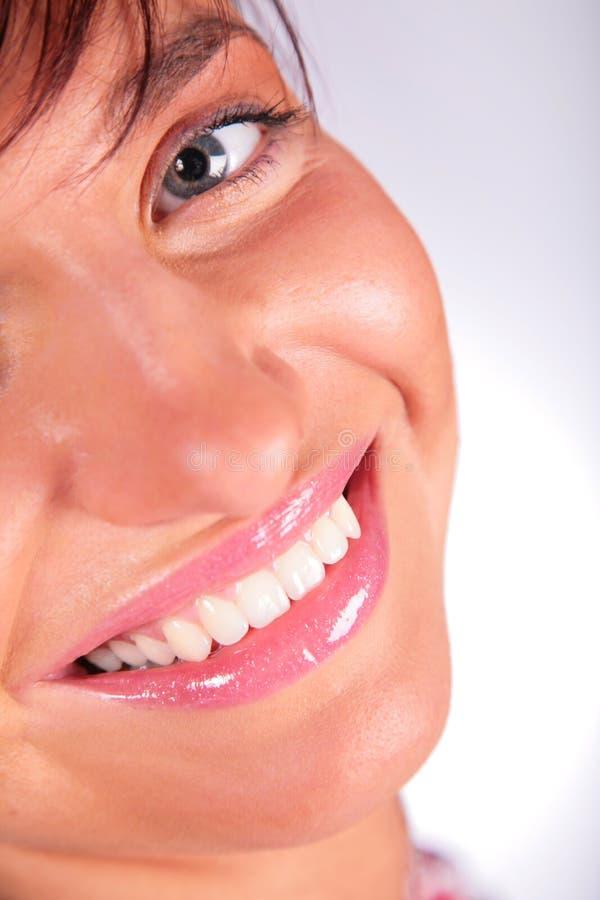 Fille de visage de sourire image libre de droits