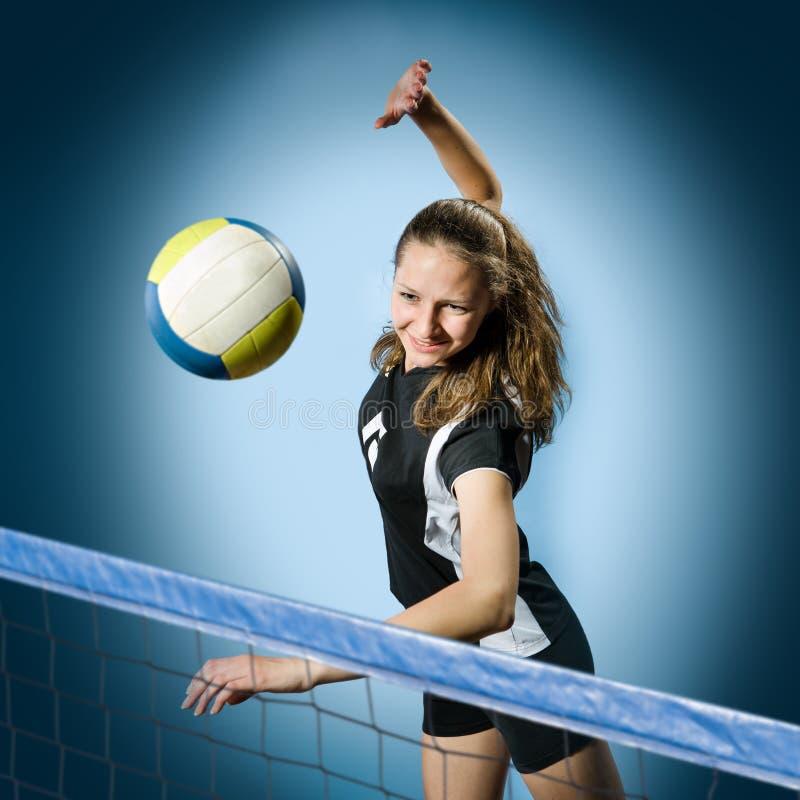 Fille de volleyball photo libre de droits