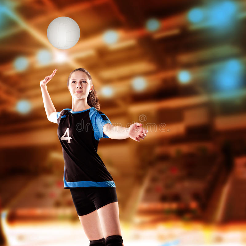 Fille de volleyball image libre de droits