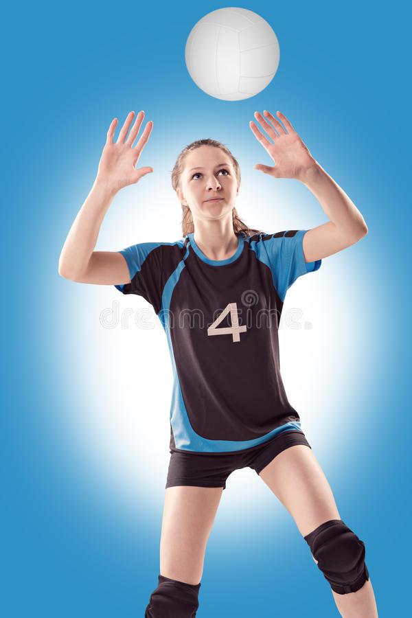 Fille de volleyball photos stock