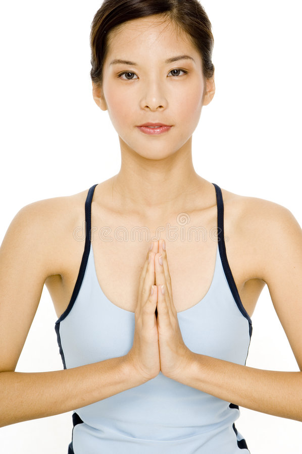 Fille de yoga images libres de droits