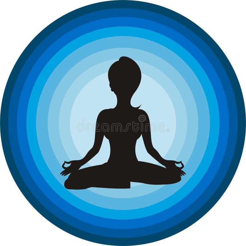 Fille de yoga images stock