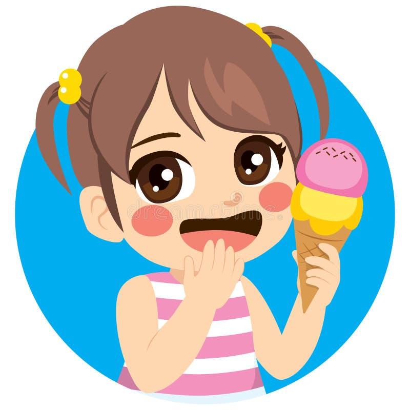 Fille douce de crème glacée  illustration stock