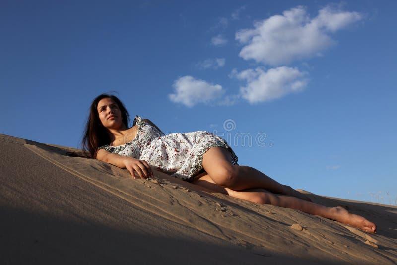 fille en sable photos stock