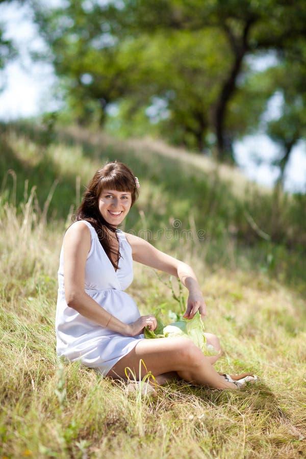 Fille enceinte de mode photographie stock libre de droits
