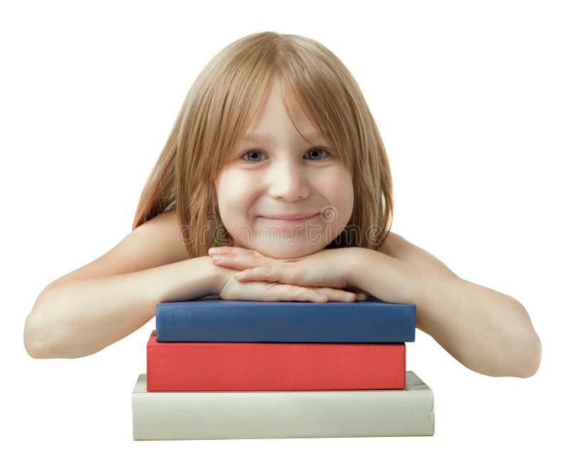 Fille et livres photo libre de droits