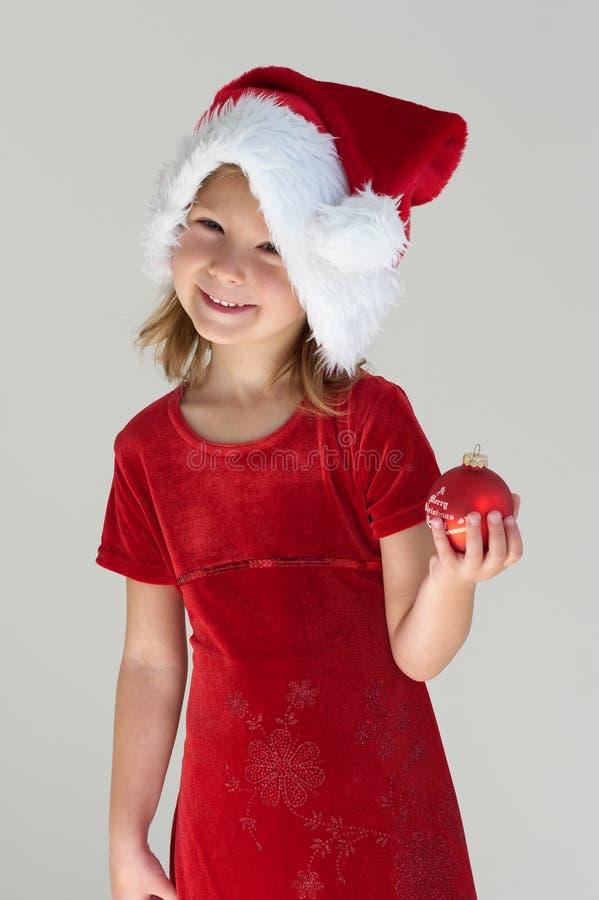 Fille et Noël photos stock