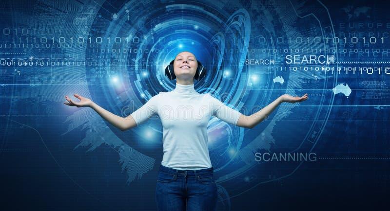 Download Fille Et Technologies De L'avenir Photo stock - Image du fiction, personne: 56480488