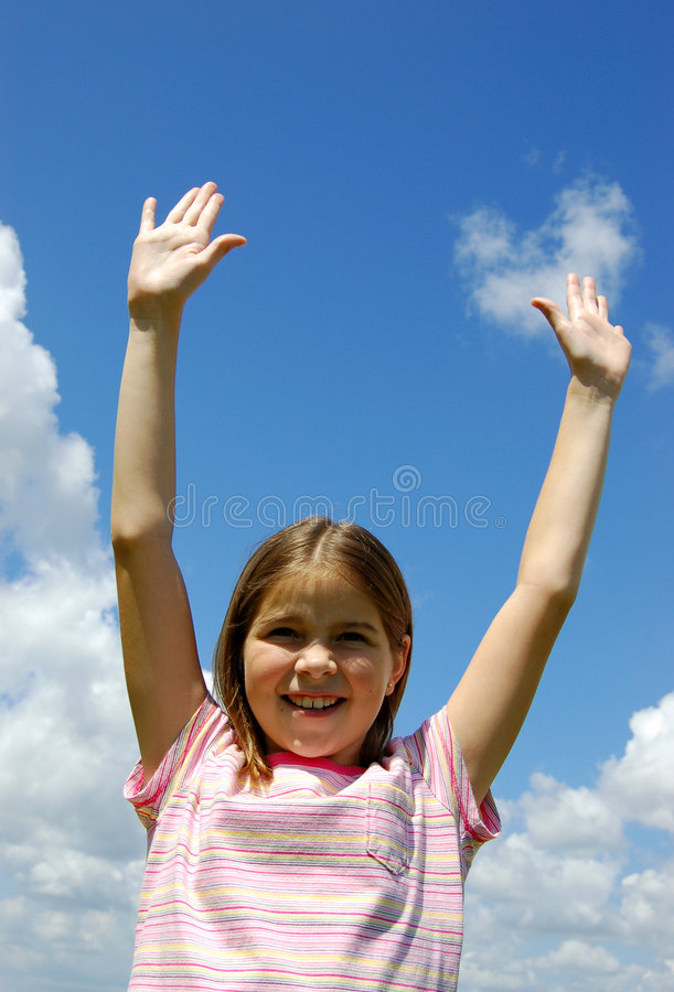Fille Excited photo stock