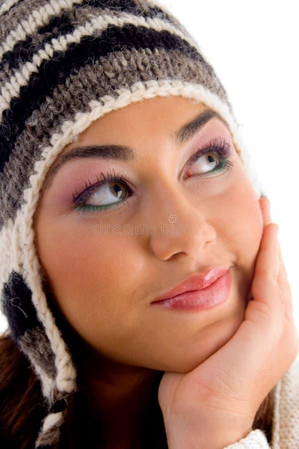 fille faciale d'expressions posant des jeunes images libres de droits