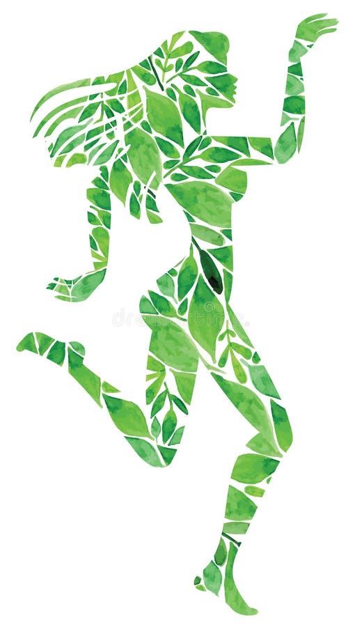 Fille faite de plantes vertes illustration libre de droits