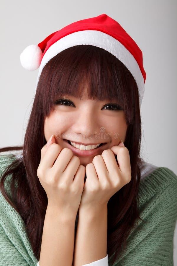 Fille gaie heureuse de Noël photo stock