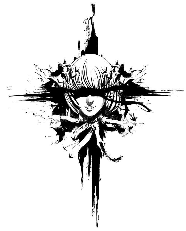 Fille Ghost illustration stock