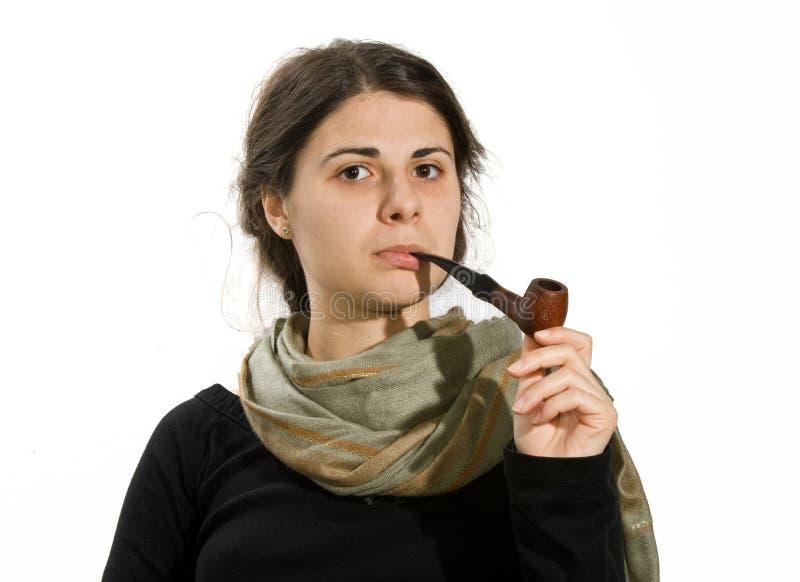 Download Fille gitane photo stock. Image du sérieux, tabac, pipe - 8664508