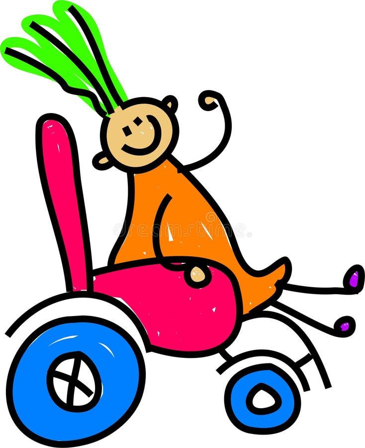 Fille handicapée illustration libre de droits