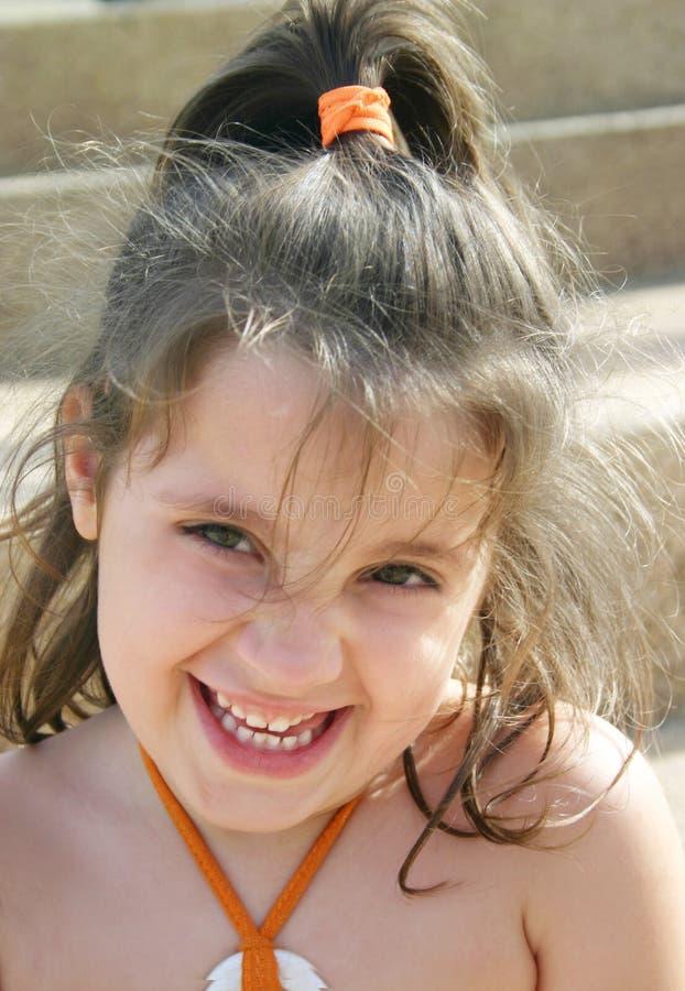 Fille heureuse photo stock
