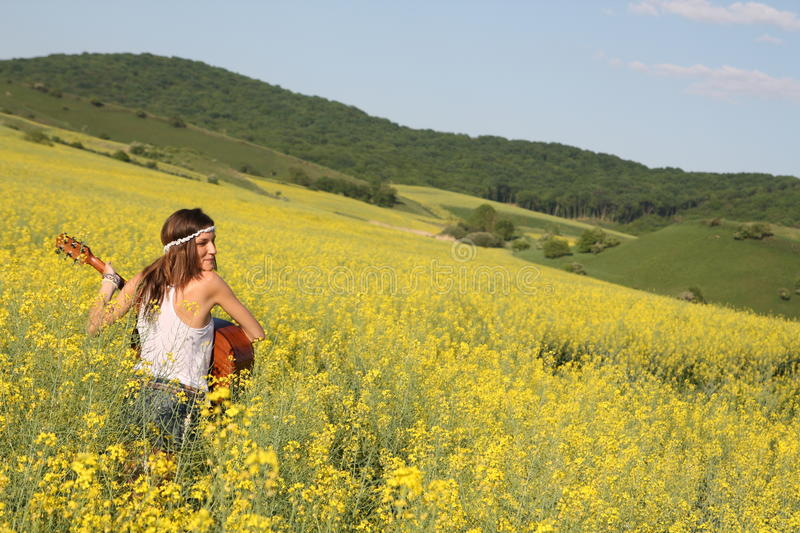 Fille hippie photographie stock
