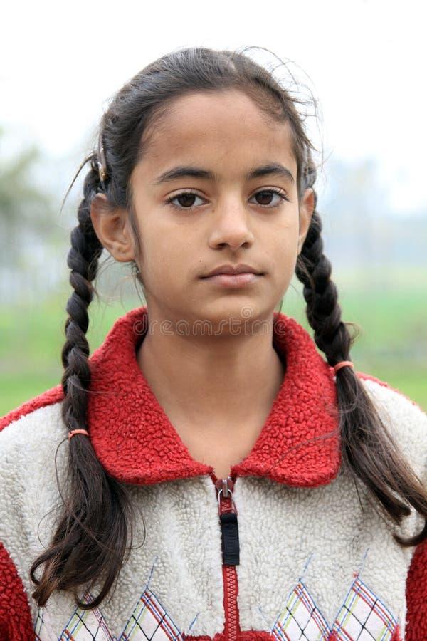 Fille indienne de village images stock