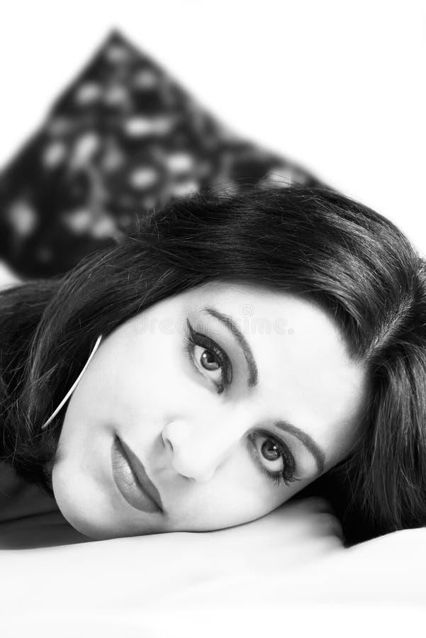 Fille indienne II noir et blanc images libres de droits