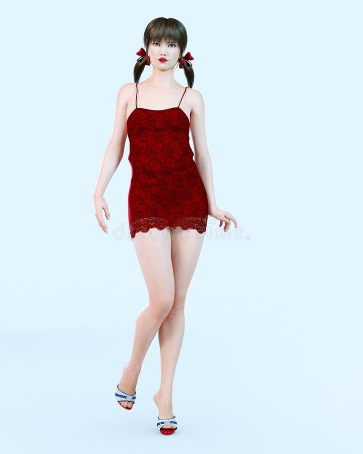 La robe rouge dans le reve