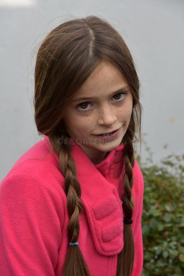 Fille mignonne d'adolescent image stock