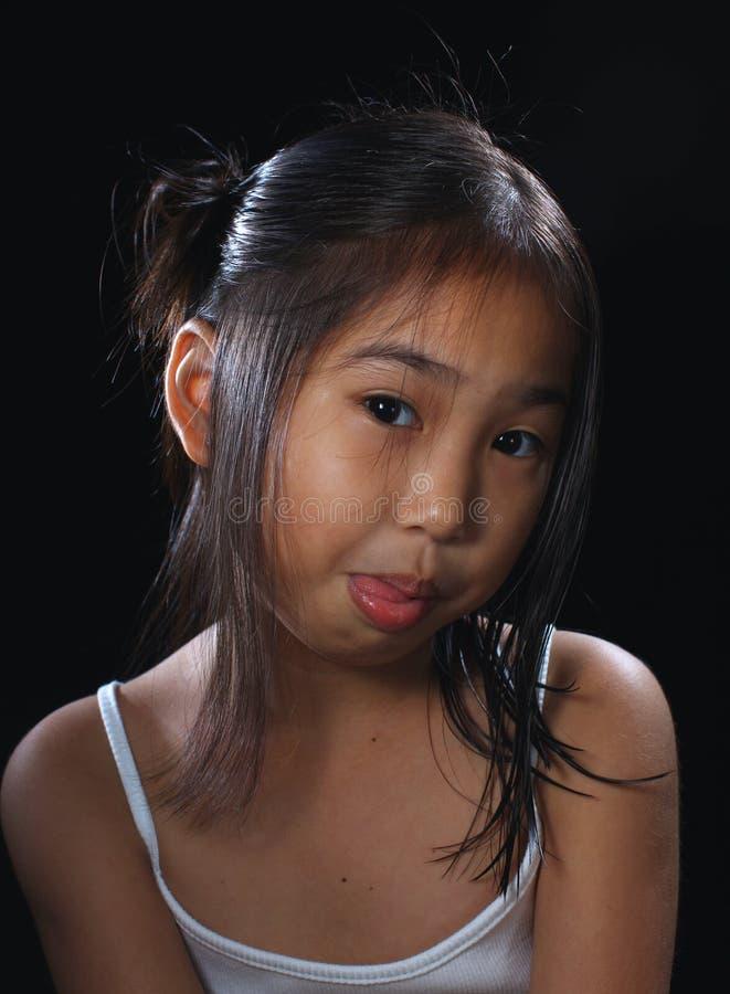 fille mignonne de l'Asie photos stock