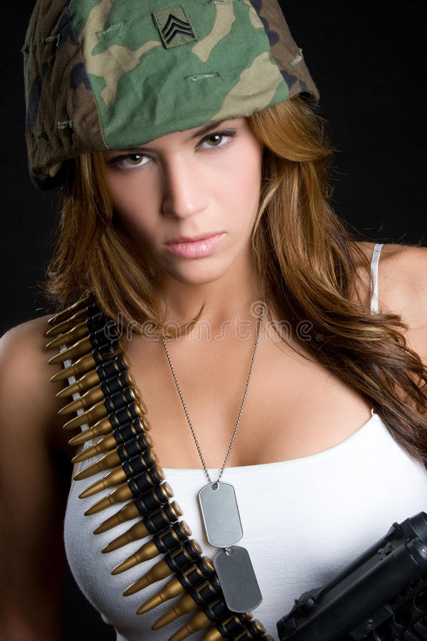 Fille militaire photos stock