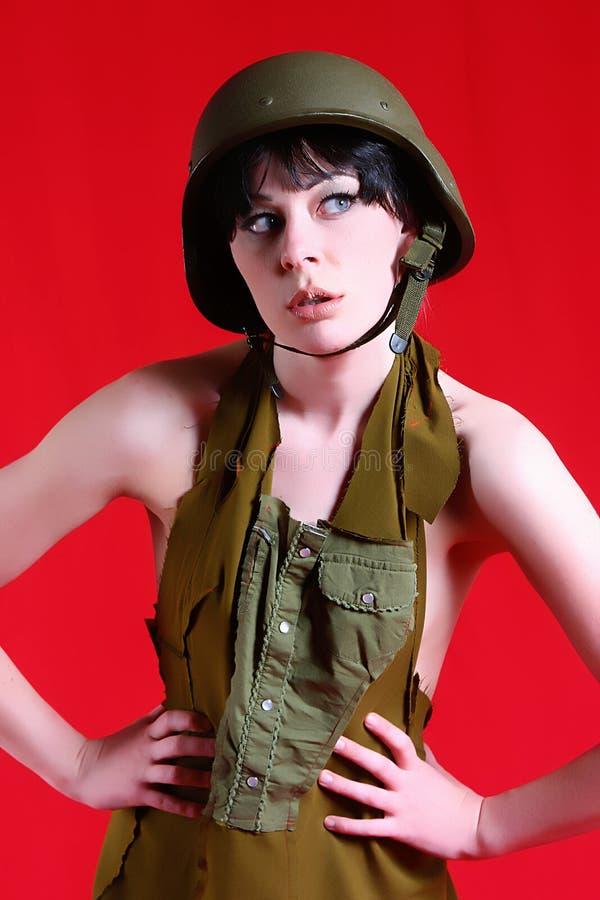 Fille militaire sexy photos libres de droits