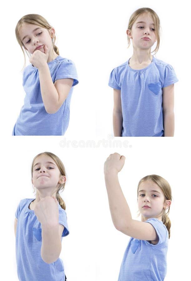 Fille avec des émotions arrogantes photo libre de droits