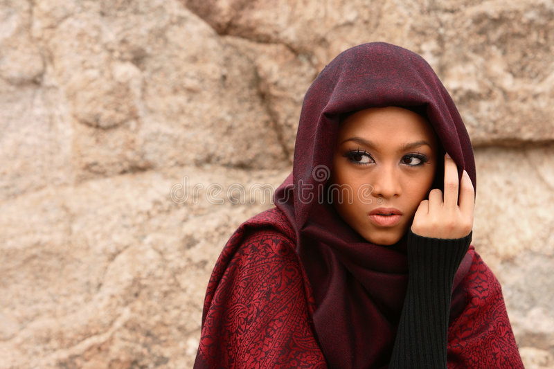 Fille musulmane photo stock