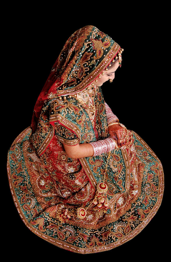 Fille nuptiale indienne photographie stock