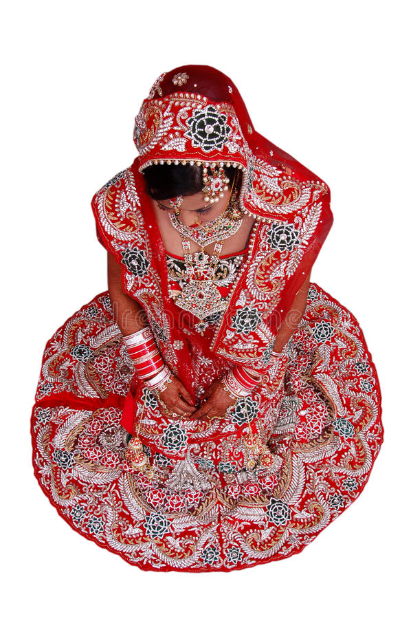 Download Fille nuptiale indienne image stock. Image du configuration - 56484955