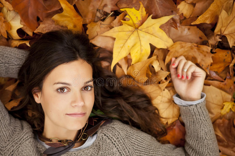 Fille pensive image stock
