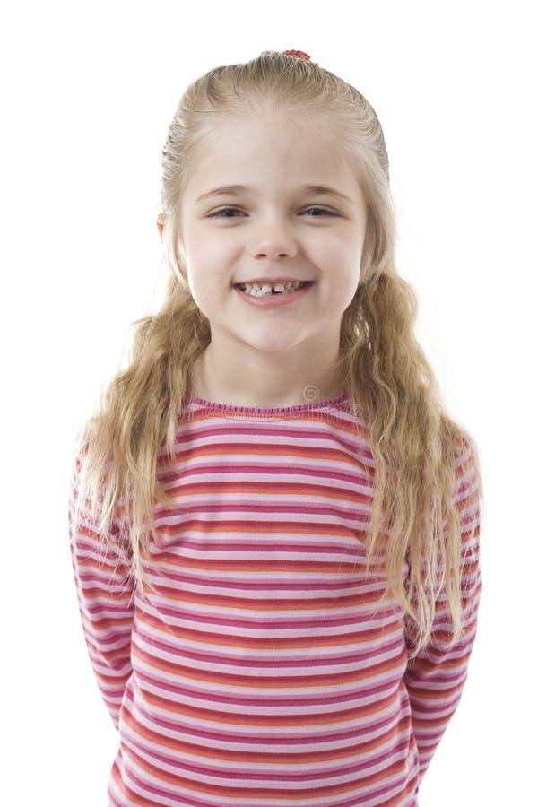 fille peu souriant photographie stock libre de droits