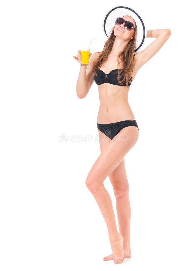 Fille posant dans le bikini photos stock